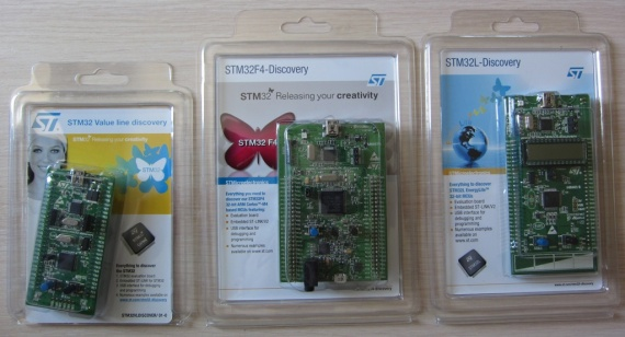 Отладочные платы STM32 Discovery