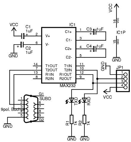 MAX232 адаптер