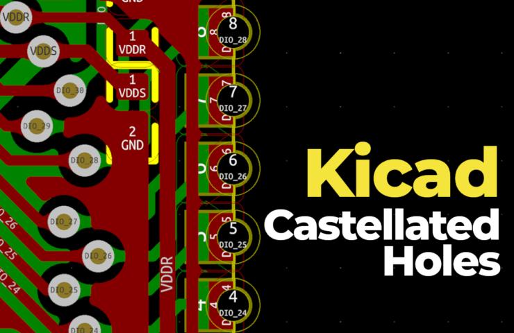 kicad создание castellated holes